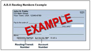 Finding Routing and Account Numbers
